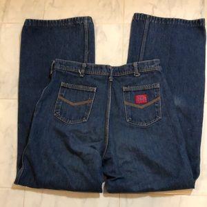 Big Blue vintage blue denim wide leg mom jeans